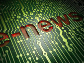 News concept: E-news on circuit board background — Stock Photo