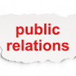 Stock Photo: Marketing concept: Public Relations on Paper background
