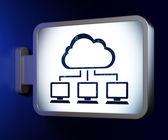 Cloud computing concept: Cloud Network on billboard background — Stockfoto