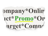 Advertising concept: Promo on Paper background — Stock Photo