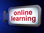 Education concept: Online Learning on billboard background — Stock Photo