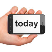 Time concept: Today on smartphone — Stock Photo
