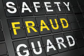 Safety concept: Fraud on airport board background — Stock Photo