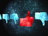 Social media concept: Like, Unlike on digital background — Stock Photo