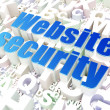 Security concept: Website Security on alphabet background — Stok fotoğraf