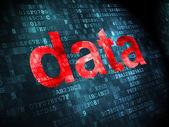 Data concept: Data on digital background — 图库照片