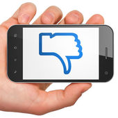 Social network concept: Unlike on smartphone — Stock Photo