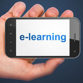 Education concept: E-learning on smartphone — Stock Photo