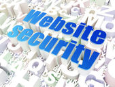 Security concept: Website Security on alphabet background — Stock Photo
