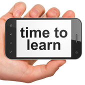 Time concept: Time to Learn on smartphone — Zdjęcie stockowe