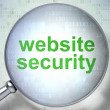 SEO web development concept: Website Security with optical glass — Stock Photo