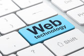 SEO web design concept: Web Technology on computer keyboard back — Stock Photo