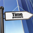 Stock Photo: Timeline concept: Time Pressure on Building background