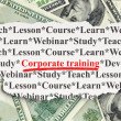 Foto Stock: Education concept: Corporate Training on Money background