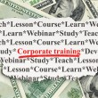 Education concept: Corporate Training on Money background — Stockfoto #26018945