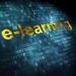 图库照片: Education concept: E-learning on digital background