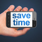 Time concept: Save Time on smartphone — Zdjęcie stockowe