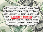 Education concept: Corporate Training on Money background — 图库照片