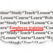 Foto Stock: Education concept: Employee Training on Paper background