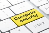 Protection concept: Computer Security on computer keyboard backg — Stock Photo