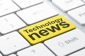 News concept: Technology News on computer keyboard background — Stock Photo