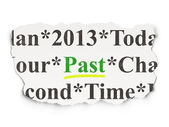Timeline concept: Past on Paper background — Stockfoto