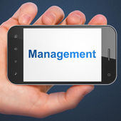 Business concept: Management on smartphone — Stock fotografie