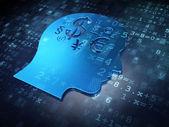Education concept: Blue Finance Symbol on digital background — Foto de Stock