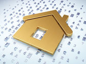 Protection concept: Golden Home on digital background — Stock Photo