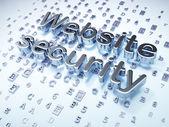 SEO web design concept: Silver Website Security on digital backg — Stock Photo