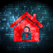 Security concept: Home on digital background — Stock Photo
