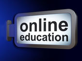 Education concept: Online Education on billboard background — Stock Photo