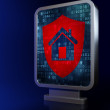 Security concept: Shield on billboard background — Stock Photo #26273941