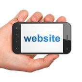 SEO web design concept: Website on smartphone — Stock Photo