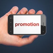Advertising concept: Promotion on smartphone — Stock Photo
