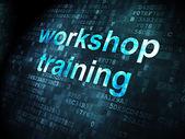 Education concept: Workshop Training on digital background — Zdjęcie stockowe