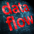 Information concept: DatFlow on digital background — Stock Photo #26283329
