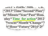 Timeline concept: Time for Action on Paper background — Stockfoto