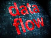 Information concept: Data Flow on digital background — Stock Photo