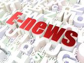 News concept: E-news on alphabet background — Stock Photo