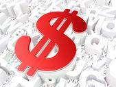 Valuta koncept: dollarn på alfabetet bakgrund — Stockfoto