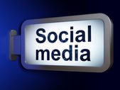 Social media concept: Social Media on billboard background — Stock Photo