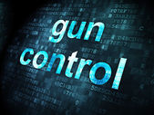 Privacy concept: Gun Control on digital background — Stockfoto