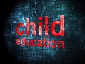 Education concept: Child Education on digital background — Stock Photo