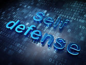 Security concept: Blue Self Defense on digital background — Stock Photo