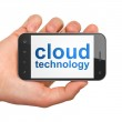 Networking concept: Cloud Technology on smartphone — Stock Photo #26565385