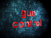 Safety concept: Gun Control on digital background — Stockfoto