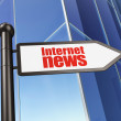 Stock Photo: News concept: Internet News on Building background