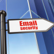 Safety concept: Email Security on Building background — Stock Photo
