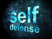 Protection concept: Self Defense on digital background — ストック写真